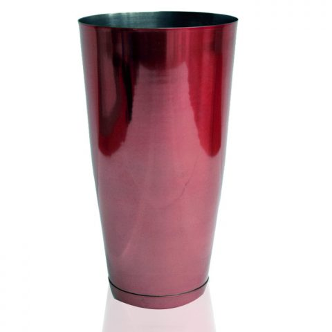 Bar Shaker Tin Stainless Steel Red