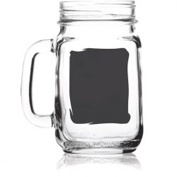 Mason Jar With Chalkboard