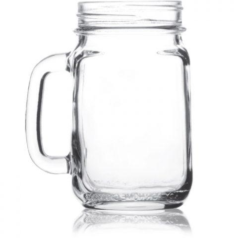 Mason Jar Large With Handle