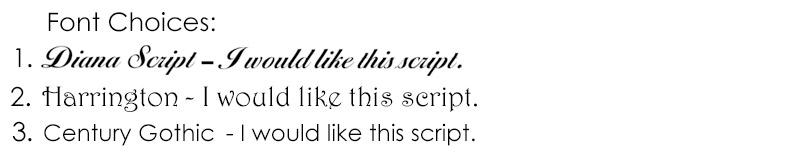 Joiy Glass Font Choices