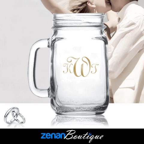 Wedding Boutique - 16oz Handled Jar