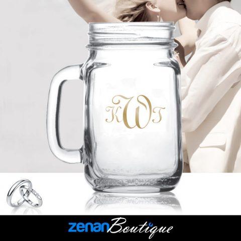 Wedding Boutique - 16oz Handled Jar