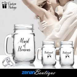 "Wedding Boutique Packages - ""Maid of Honour & Bridesmaids"" on Mason Jar"