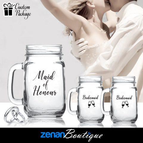 """Wedding Boutique Packages - """"Maid of Honour & Bridesmaids"""" on Mason Jar"""