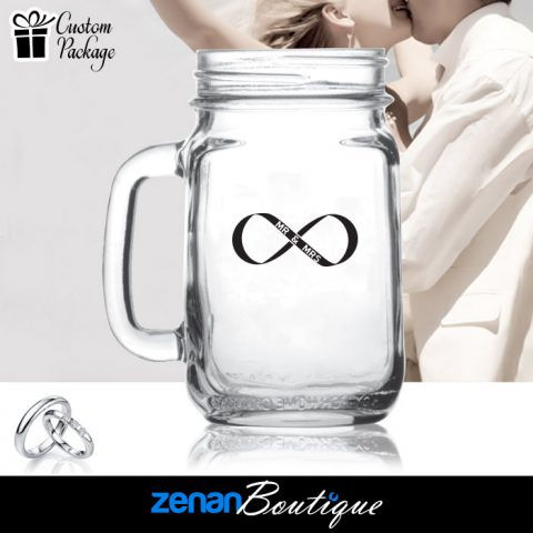 Wedding Boutique Packages - Infinity Symbol on Mason Jar