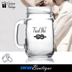 "Wedding Boutique Packages - ""Tied the Knot"" on Mason Jar"