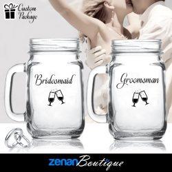 "Wedding Boutique Packages - ""Bridesmaid & Groomsman"" on Mason Jar"