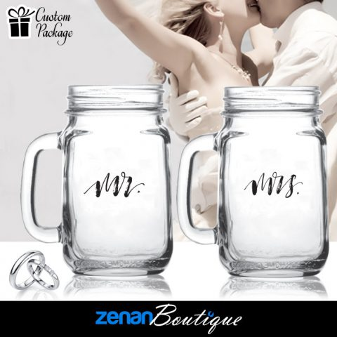 "Wedding Boutique Packages - ""Mr & Mrs"" V1 on Mason Jar"