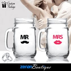"Wedding Boutique Packages - ""Mr & Mrs"" V2 on Mason Jar"