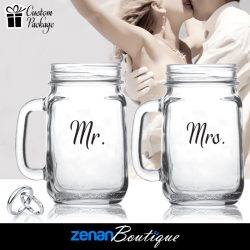 "Wedding Boutique Packages - ""Mr & Mrs"" V3 on Mason Jar"