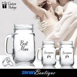 "Wedding Boutique Packages -  ""Best Man & Groomsman"" on Mason Jar"
