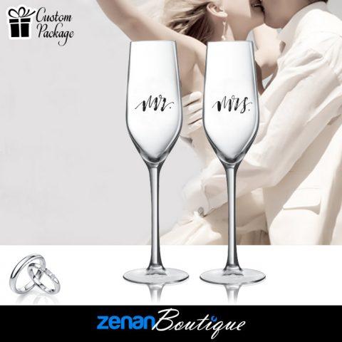 """Wedding Boutique Packages – """"Mr & Mrs"""" V1 On flute"""