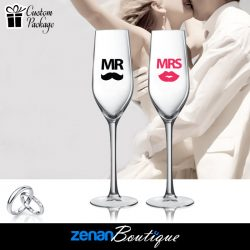 "Wedding Boutique Packages – ""Mr & Mrs"" V2 On flute"