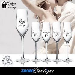 """Wedding Boutique Packages – """"Best Man & Groomsman"""" On flute"""