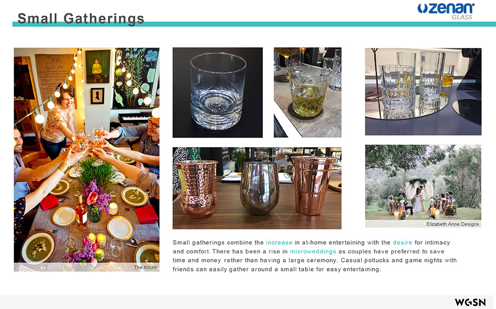 Zenan Glassware Trend Report 2018 - Part 1 - Party Styling