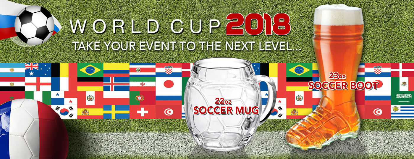 World cup 2018 themed glassware