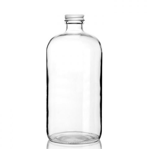 Boston Round Growler Clear
