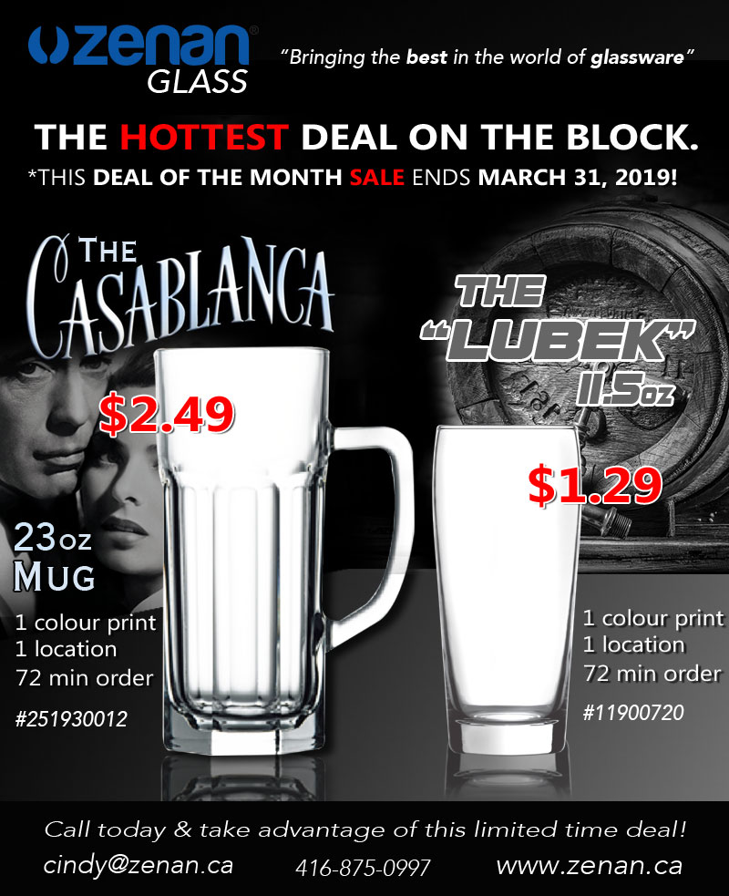 March deal of the month! CASABLANCA $2.49! LUBEK $1.29!