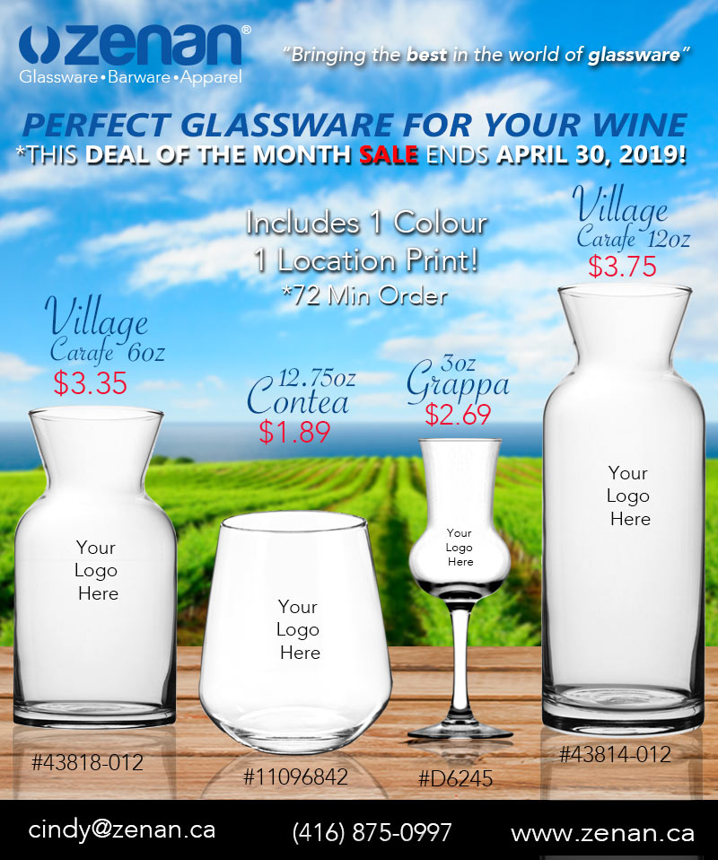 Wine Deal of the month April 2019 - Zenan Glass