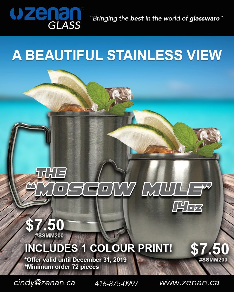 Moscow Mule Flyer Zenan Glass - December Deal of the Month 2019