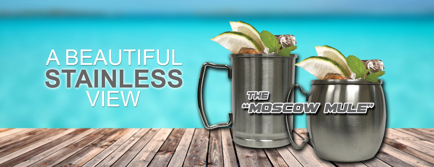 New Stainless Moscow Mule from Zenan Glass!